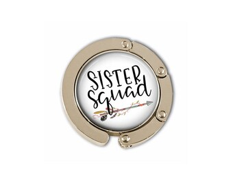 Sister Squad, Purse Holder Hook, Sister in Law Gifts, Sister Gift, BOHO, Gift for Women, Birthday Gift for Her, Gift Under 15, Bag Hook