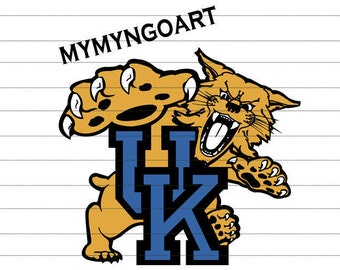 Kentucky Wildcats Logo Svg, Eps, Dxf, Pdf, Png, Jpe for Cricut and Silhouette-Digital Download.