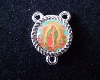 Rosary Virgin of Guadalupe 17 x 12 mm connector