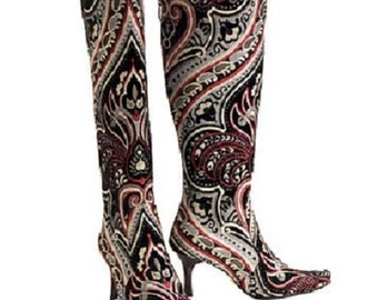 Black Angel Knee High Boots - size 38