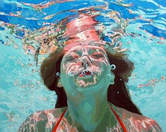 """NEW: Aqua Sunrise, 16x18"""" Archival Print- Signed"""