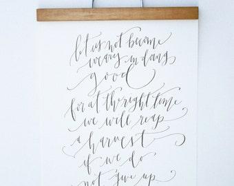 11x14 Custom Calligraphy Print