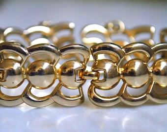 Monet Art Deco Styled Gold Bracelet