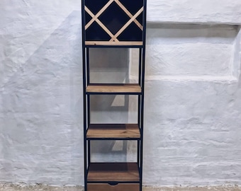Industrial Style Wine Rack Unit