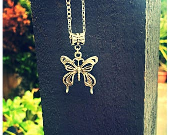 Elegant Butterfly Necklace. 925 Silver Chain. Gift Bag Packaged.