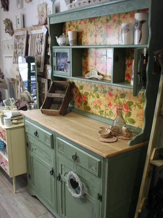 Sage Green Kitchen Dresser Sideboard Cabinet Welsh Dresser
