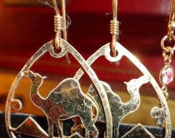 Gold Camel Earrings