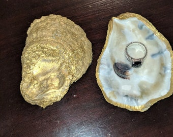 Oyster Ring Dish, Jewelry Holder, Salt & Pepper Dish