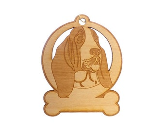 Basset Hound Ornament - Basset Hound Christmas Gift - Basset Hound Ornaments - Basset Hound Gifts - Basset Hound Memorial -Personalized Free