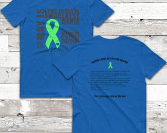 May/Lyme Disease Awareness Month Facts Twosided Shirt (YOUR SHIRT COLOR)