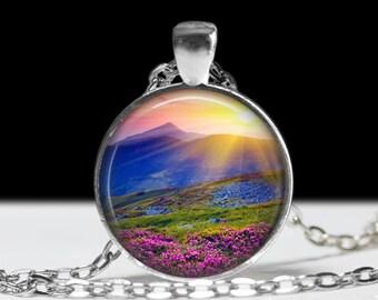 Mountain Necklace Mountain Jewelry Outdoors Gift Mountain Photo Pendant
