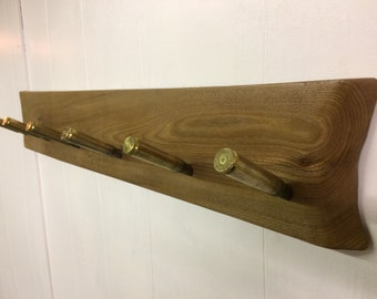 Rustic .50 BMG Bullet Casing Coatrack