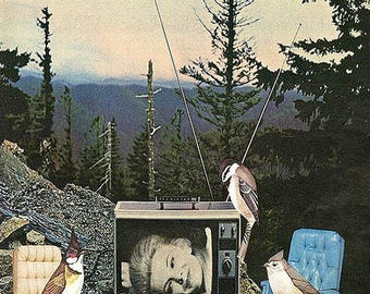 Downtime. Limited edition collage print by Vivienne Strauss.