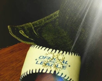 Baseball Cuff Bracelet your favorite players number in rhinestones