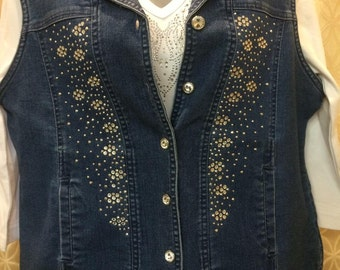 Crystal Button Vest