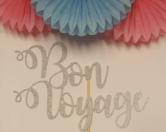 Bon Voyage (non personalised) Cake Topper