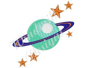 Planet Saturn - Machine Embroidery Design