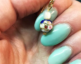 Blue Cloisonne Earrings