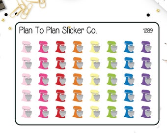 1289~~ Stand Mixer Baking Planner Stickers.