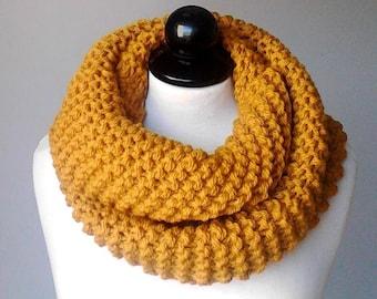 Las mujeres bufanda bufanda punto grueso bufanda ganchillo bufanda infinity bufanda capucha bufanda mostaza amarillo bufandas bufanda infinity punto bufanda regalo para ella