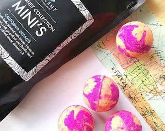 mini bath bombs, pink grapefruit and orange bath bomb, bath ball, bath fizzy, moisturising bath bomb, pink and orange bath bomb
