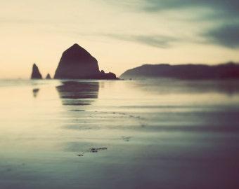 Cannon Beach Oregon, Landscape Photography Print, Beach Decor, Ocean Print, Large Wall Art Print, Nature Photography, Teal Green Wall Art