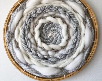 White and Grey Circle Weaving