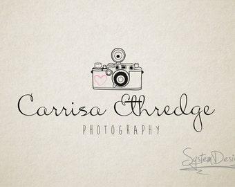 Vintage camera logo - photographer logo - watermark