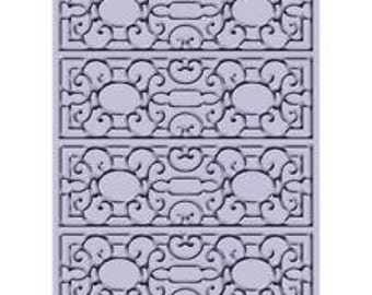 Embossing Folders - Mary Ann Cuttlebug for card making and Scrapbooking. All Occasion elegant 5x7 background Retired Design.