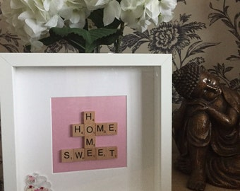 SALE PRICE Home sweet home scrabble letter frame