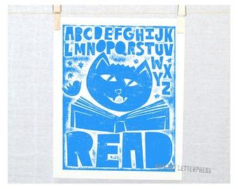 Baby Wall, Alphabet Print, Wall Art, Nursery Decor, ABC Read Print, Baby Nursery Decor