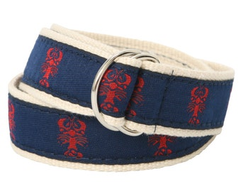 Bean Belts Boys Preppy Lobster Belt- For Babies, Toddlers & Kids - Fully Adjustable