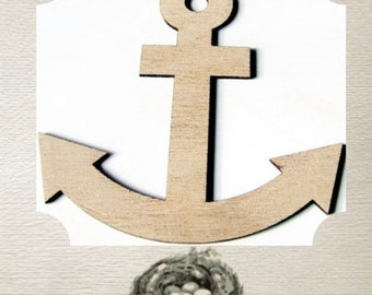Anchor / Nautical  (Large ) Wood Cut Out -  Laser Cut
