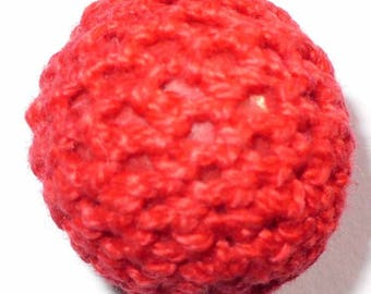 1 Pearl Cotton crochet red 20mm AR05rouge