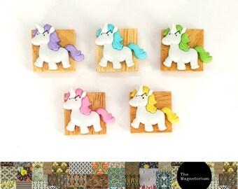 Unicorn Magnets [Fridge Magnets, Fridge Magnet Sets, Refrigerator Magnets, Magnet Sets, Office Decor, Kitchen Decor, Magnetic Board]
