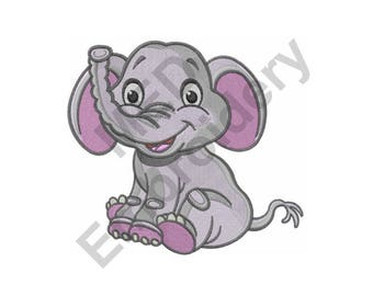 Elephant - Machine Embroidery Design