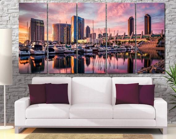 San Diego Wall Art Cityscape Large Canvas Print Cityscape
