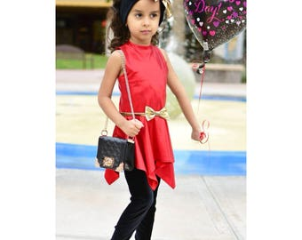 Red Dresses For Girl, Red Black, Cute Outfit Girl, Birthday Gift, Birthday Girl, Red Dress Girl