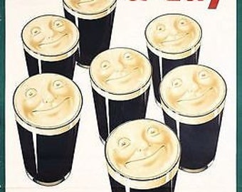 Vintage Guinness a Day Advertising Poster A3 Print