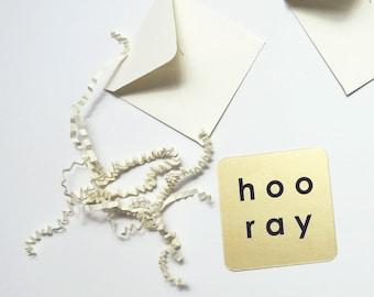 Hooray - Mini Note Card (4 Pack)