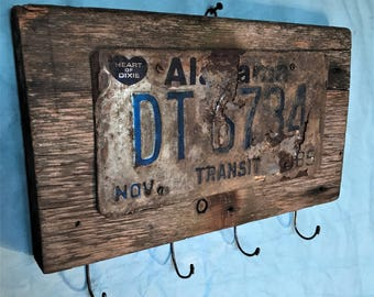 Vintage License Plate Art/Wall Decor