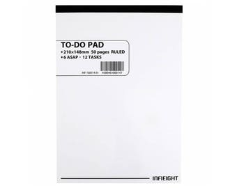 To Do List Notepad, To Do List Notebook, To Do List Memo Pad, Notepad, Note Pad, A5 Size