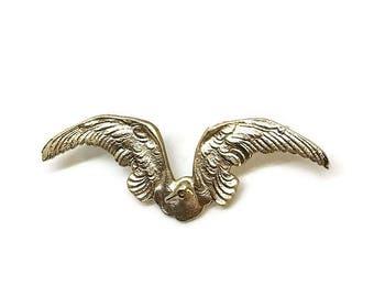 Albatros Pin | Broche oiseau en laiton | Prix | Cadeaux pour les rats | Bijoux nautique