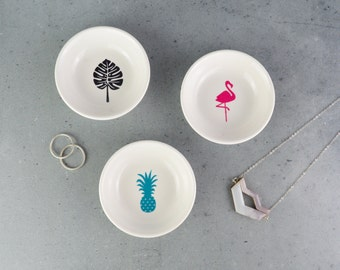 Jewellery Dish - Ring Dish - Flamingo - Monstera Leaf - Pineapple - jewelry dish - Ring holder - trinket Dish