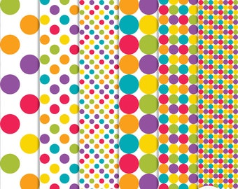 CU4Cu Polka Dot Patterns - Layered Photoshop and Elements Psd Tif  -  Instant Download - G8001