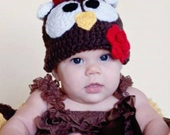 Turkey Hat | Animal Hat | Crochet Hat | Newborn Gift | Photo Prop Hat | Character Hat | Child Character Hat | Winter Hat | Knitted Hat