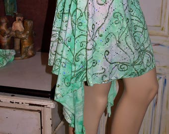 Green Sparkle Skirt with Hand Covers