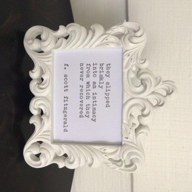 Love Quote Picture Frames Classy Fscott Fitzgerald Framed Love Quote Made On Typewriter
