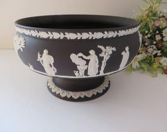 Wedgwood black 1970's  vintage large footed bowl