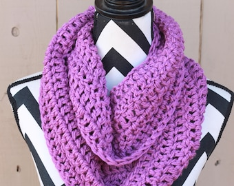 Ready to Ship Orchid Purple Infinity Scarf